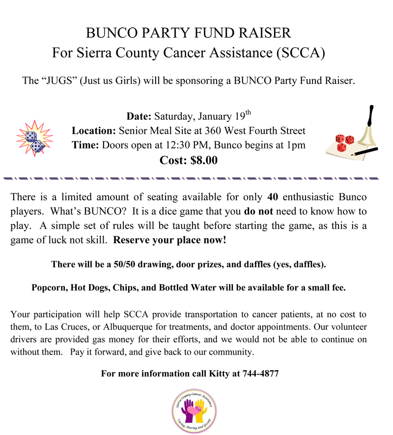 SCCA fund raiser January 2013